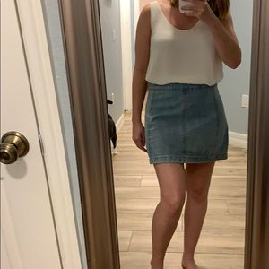 Size 4 free people demin skirt